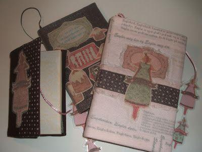 Lille Gitte: Bokomslag i tekstil med engler