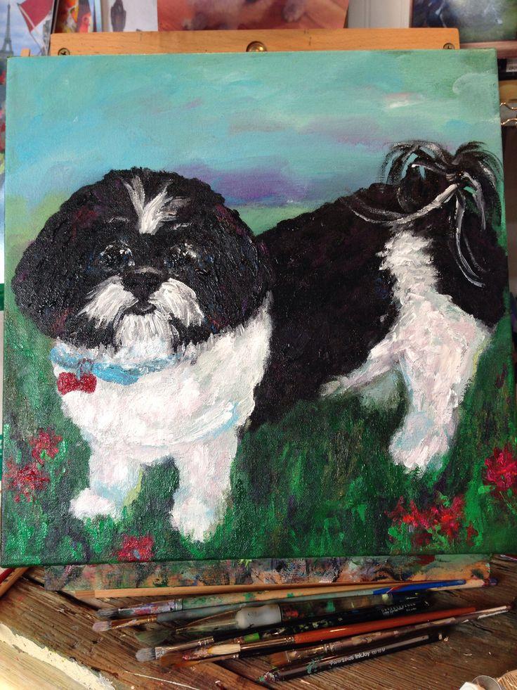 dog painting . Dana Cargile #art.