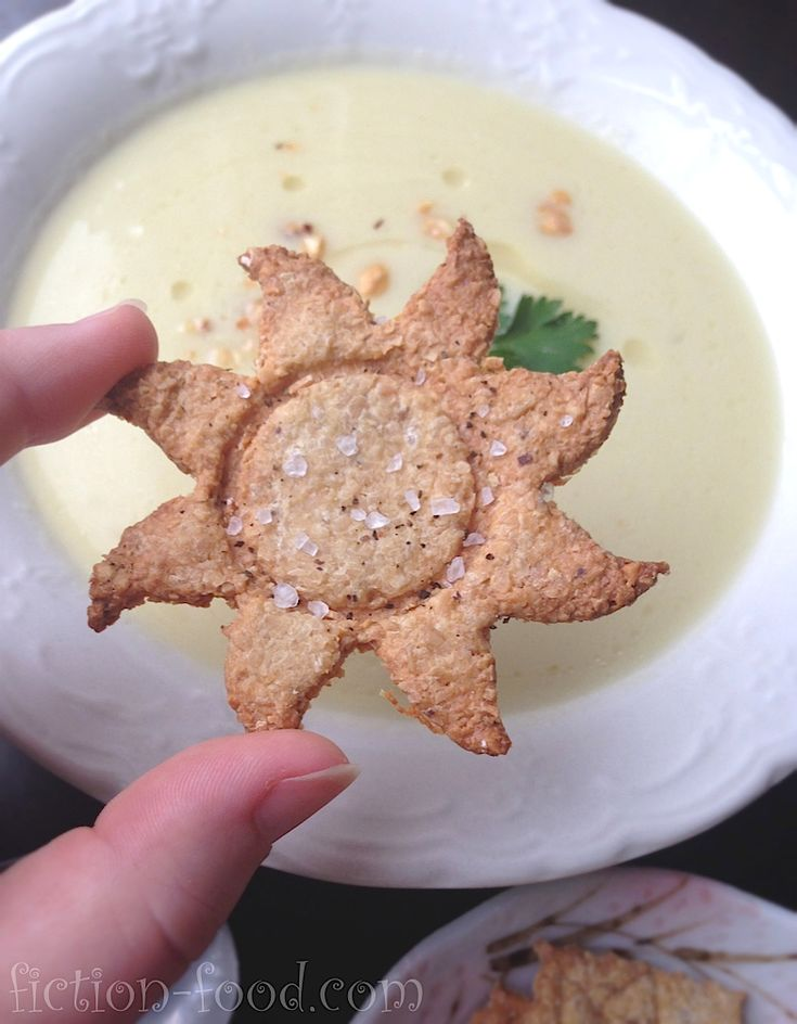 """Fiction-Food Café: Hazelnut Soup from """"Tangled"""" + Hazelnut Crackers!"""