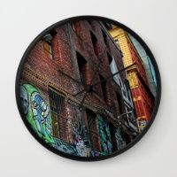 Graffiti Street Wall Clock Keep time with stylishly designed wall clocks.