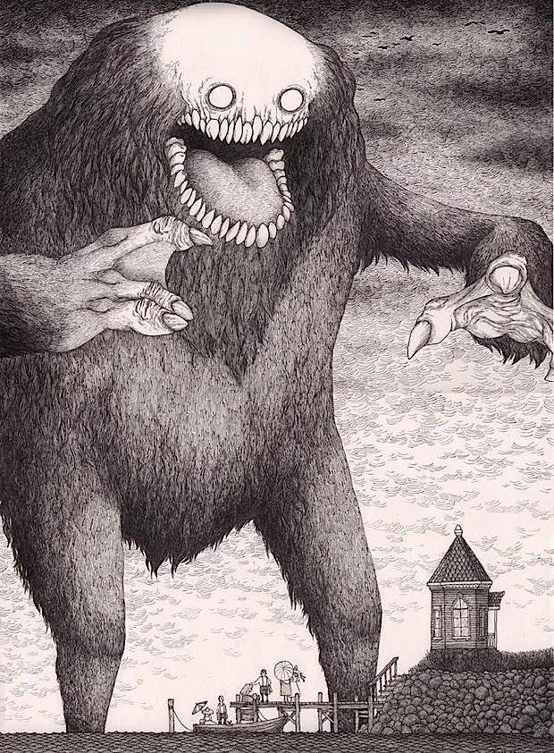 Cool monsters, drawn on post-it notes by John Kenn Mortensen.