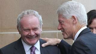 Bill Clinton to attend Martin McGuinness funeral  BBC News