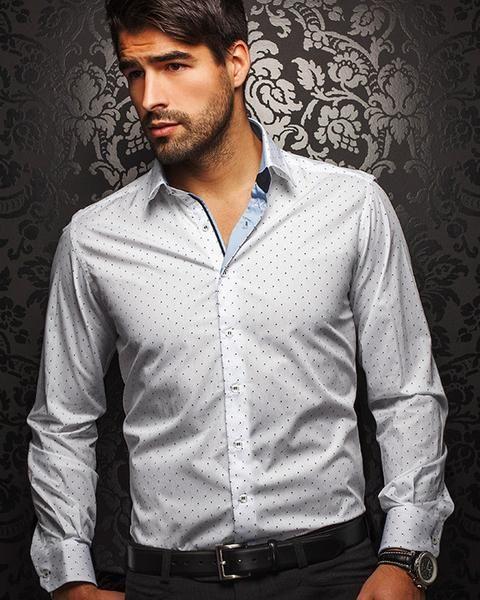 Au Noir shirt - Valenti Print White - [White Label] - Men Fashion