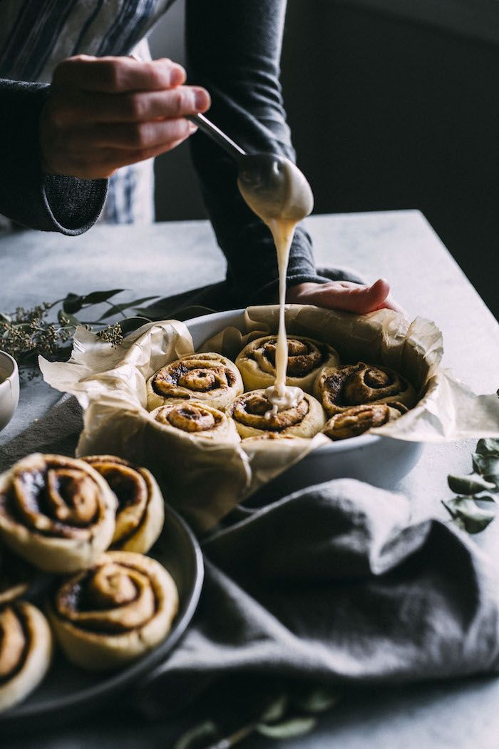 Easy Vegan Cinnamon Rolls   Cinnamon rolls made with simple ingredients and they're easier to make than you'd think   thealmondeater.com