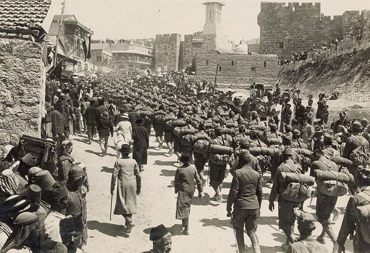 Austrian troops marching up Mt. Zion, 1916 - Middle Eastern theatre of World War I - Wikipedia, the free encyclopedia