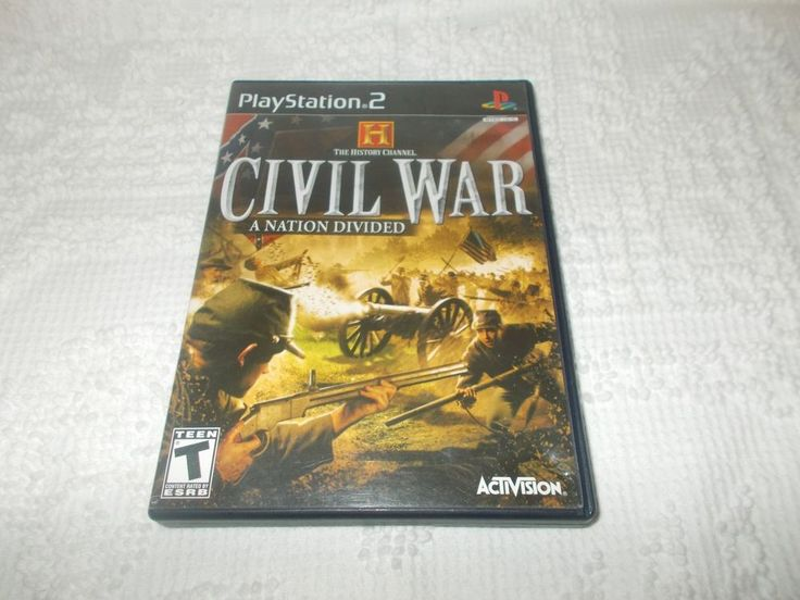 The History Channel Civil War A Nation Divided Sony Playstation 2 PS2 Complete