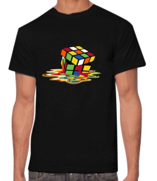 Melting Cube Mens T Shirts, Women T Shirts, Guys T Shirts, Graphic T Shirts, Graphic Tees, Mens Tees by SuperflyTees on Etsy