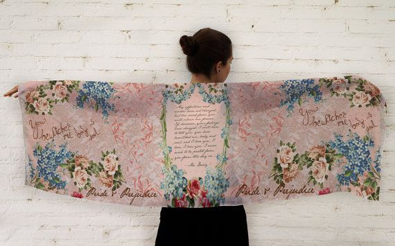 Pride and Prejudice Book Scarf / Bewitched me by EnjoyTheTraffic