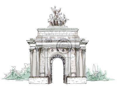Kolekcja szkic, triumph arch w londynie na obrazach myloview. Najlepszej jakości plakaty, fototapety, kolekcje myloview, naklejki, obrazy. Chcesz ozdobić swój dom? Tylko z myloview!