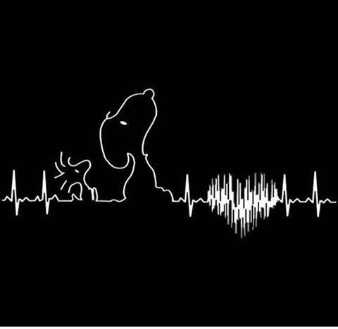 Snoopy Heartbeat SVG