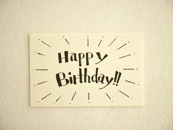 応用編 手書き文字を使ってメッセージカードを作ってみた1 誕生日 カード 手書き 誕生日 イラスト 手書き バースデーカード 手書き