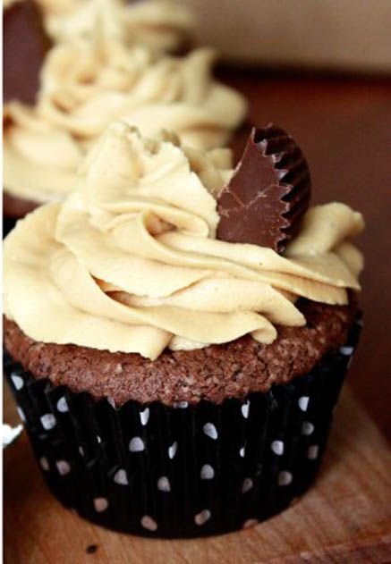 Sammys Chocolate Cupcakes with Peanut Butter Frosting