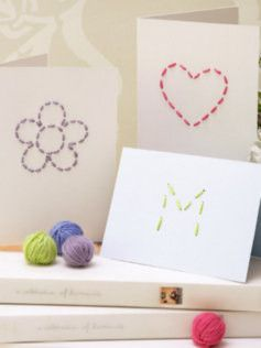 hand stitched paper, good scrapbooking idea!Christmas Cards, Hands Stitches Cards, Cute Cards, Brides Diaries, Handmade Cards, Cards I, Stitches Handmade, The Bride, Diy