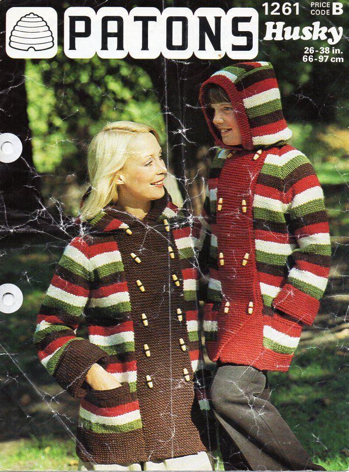 Womens Coat Knitting Pattern Pdf Download Vintage Ladies Jacket With