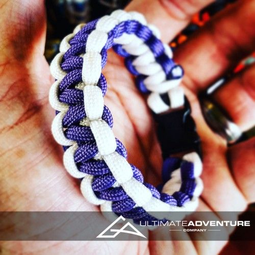 Purple and White Paracord Survival Bracelet from www.ultimateadventures.co.za  #purple #white #black #odgreen #tyretrax #bracelet #paracord #paracord550 #paracordsurvival #paracordsurvivalbracelet #survival #paracordporn #outdoorgear #survivalbracelet #survivalparacord #survivaladventure #edc #everydaycarry #adventure #survivalgear #adventuregear #adventurebracelet #ultimateadventure #ultimateadventureco #ultimateadventures #paracordon #cordcraft #craft #outdoorcraft