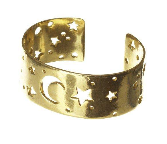 #Moon & #Stars #Constellation #Cuff #Bracelet