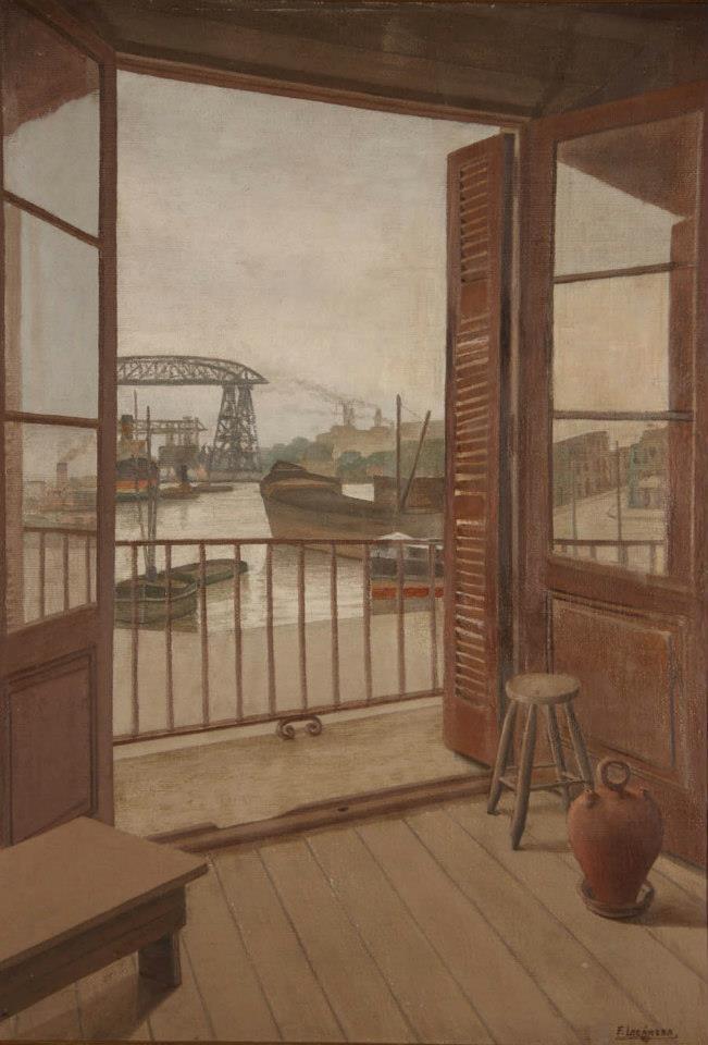 Desde mi estudio - Oleo - Fortunato Lacamera  (1887/1951) - Pintor Argentino