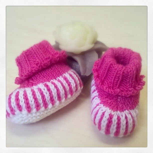 Scarpine 3-6 mesi - striped booties with pattern