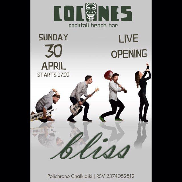 Cocones Beach Bar — Bliss Live at Cocones | Sun.30/4, 17:00| ...