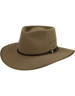 My hat. The Cattleman was made by Akubra for the Australian Stockman's Hall of Fame - it safeguards the nose, ears and back of the neck from the sun in Imperial Quality pure fur felt.