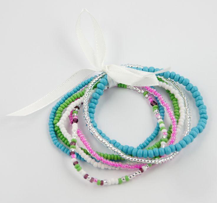 Africa!Ignite armbandjes, set van 7. fairtrade, mooi, leuk, sportief, chique, casual, kralen, halsketting, sieraden, jewelry, modieus, Shake the World