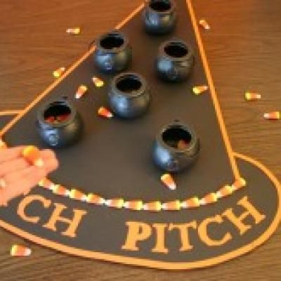 Good game for school parties: Schools Parties, Fall Festivals, Witch Pitch, For Kids, Candy Corn, Fun Games, Halloween Parties Games, Parties Ideas, Halloween Games