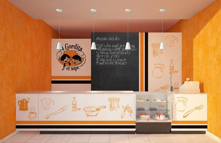Propuesta de diseño de espacio comercial para establecimiento de cocina económica.