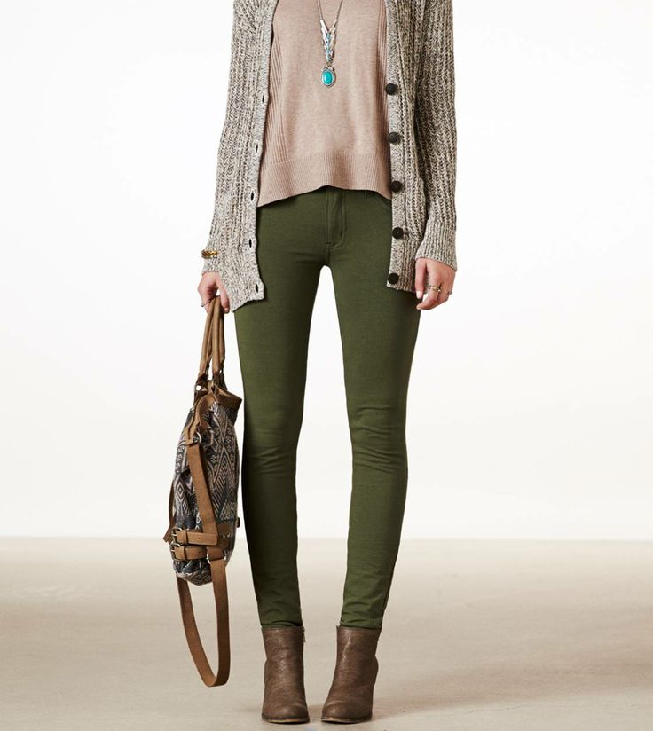 Knit Jeggings-green forest color. I already have these in maroon, and they are my favorite pair of pants.