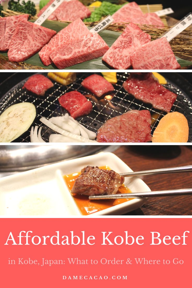 Heading to Japan and want to try Kobe beef without breaking the bank? Check out this tell-all on what Kobe beef is and where to eat it in Kobe!   #kobe #japan #travel #food #foodie #hyogo #wagyu #beef #affordable #cheap #in #guide