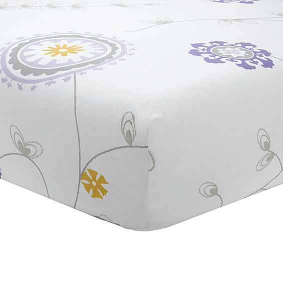 Emma Lavender Crib Sheet | Baby Girl Bedding | Purple Baby Bedding | Liz and Roo Fine Baby Bedding