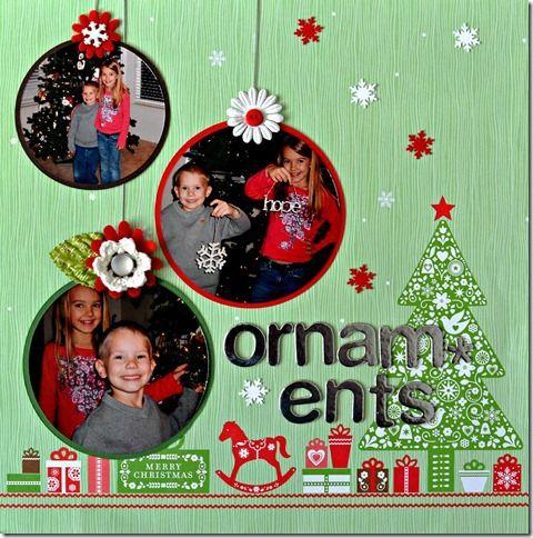 Ornaments Gwynie- Scrapbook Layout