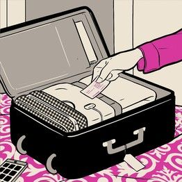 Leave a shoe from the pair you'll be wearing in the morning in the hotel safe so you don't forget your valuables and more from 25 Ways to Make Travel Easier Starting with a Single Shoe from The Wall Street Journal.