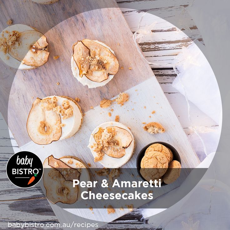For those of us who loving having people over for dinner, you'll know anything that can be prepared ahead of time will make things so much more enjoyable and easier on the day. Enter our Pear and Amaretti Cheesecakes. The perfect Summer dessert! Light and creamy with a little sweetness from our Pear Puree.  We know you, and your guests, will love these!