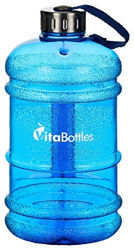 VITABOTTLES Bouteille potable de Gym Fitness de 2,2 litres XXXL sans BPA ni DHEP Bouteille potable de sports noir Contenant un gallon d'eau…