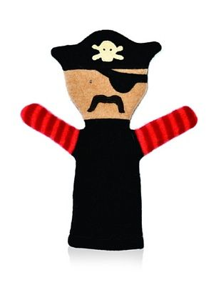 28% OFF Cate and Levi Unisex Pirate People Puppet , Black/Red