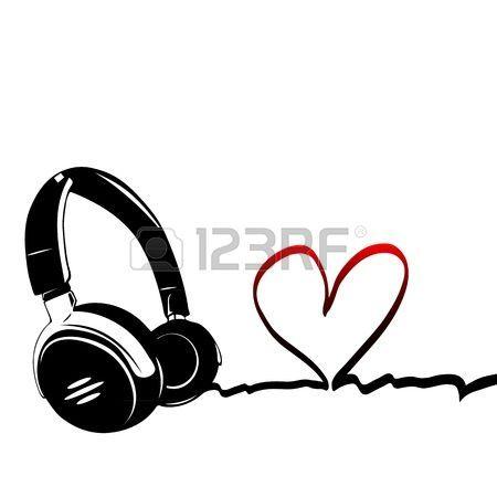 Herz mit Kopfh�rer - das Konzept einer Musikliebhaber photo