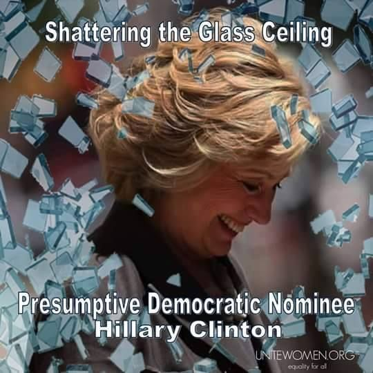 The first woman to win the nomination of a major political party!! Congratulations #HillaryClinton