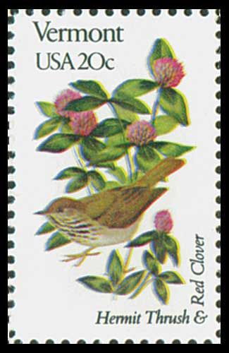 1982 20c Vermont State Bird & Flower - Catalog # 1997 For Sale at Mystic Stamp Company