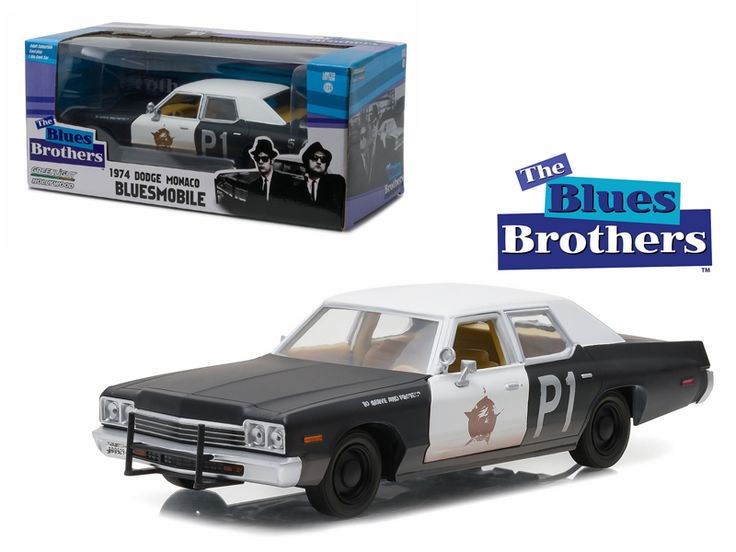 """1974 Dodge Monaco Bluesmobile """"The Blues Brothers"""" Movie 1/24 Diecast Model Car by Greenlight - Brand new 1:24 scale diecast 1974 Dodge Monaco Bluesmobile """"The Blues Brothers"""" Movie die cast car model by Greenlight. Brand new box. Rubber tires. Has opening doors. Made of diecast with some plastic parts. Detailed interior, exterior, engine compartment. Dimensions approximately L-7.5,W-3,H-2.5 inches.-Weight: 2. Height: 6. Width: 11. Box Weight: 2. Box Width: 11. Box Height: 6. Box Depth: 6"""