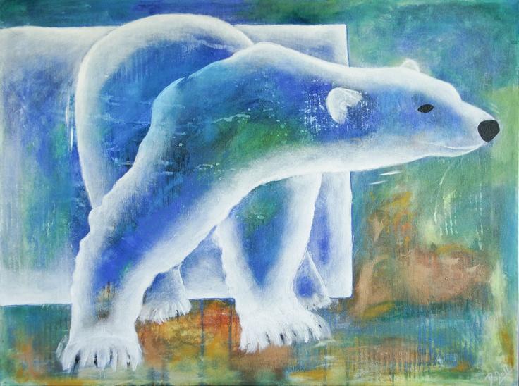 Polar Bear 80 x 60 cm