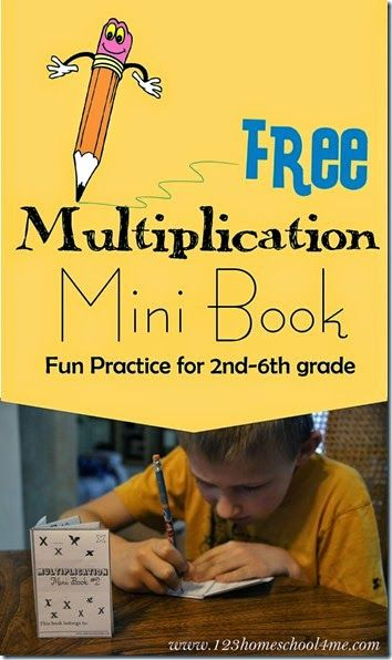 Multiplication Mini Book - this is such a fun way for kids to practice that is way better than math worksheets! FREE printable for 2nd grade 3rd grade 4th grade 5th grade and 6th grade