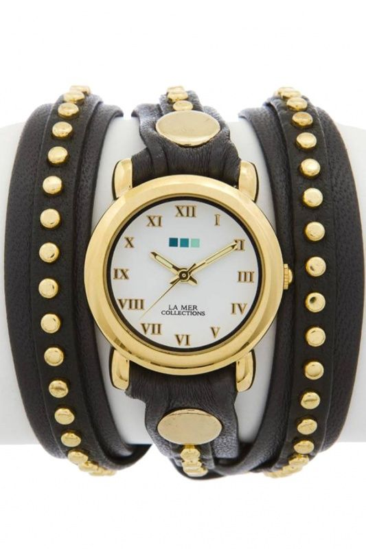 LMSWGG001 - La Mer Collection Bali Stud Grey Gold dames horloge