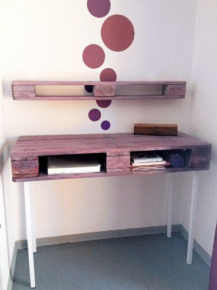 17 mejores ideas sobre escritorios reciclados en pinterest - Escritorio de palets ...