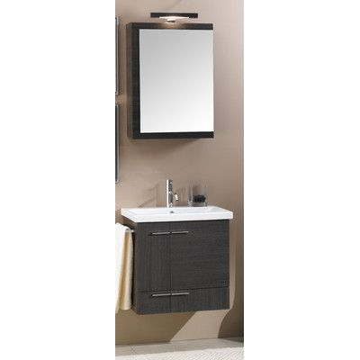 """Iotti by Nameeks Simple 22.5"""" Wall Mounted Bathroom Vanity Set  -- perfect! except that it's $1700+.  free standing (w/legs) also available."""