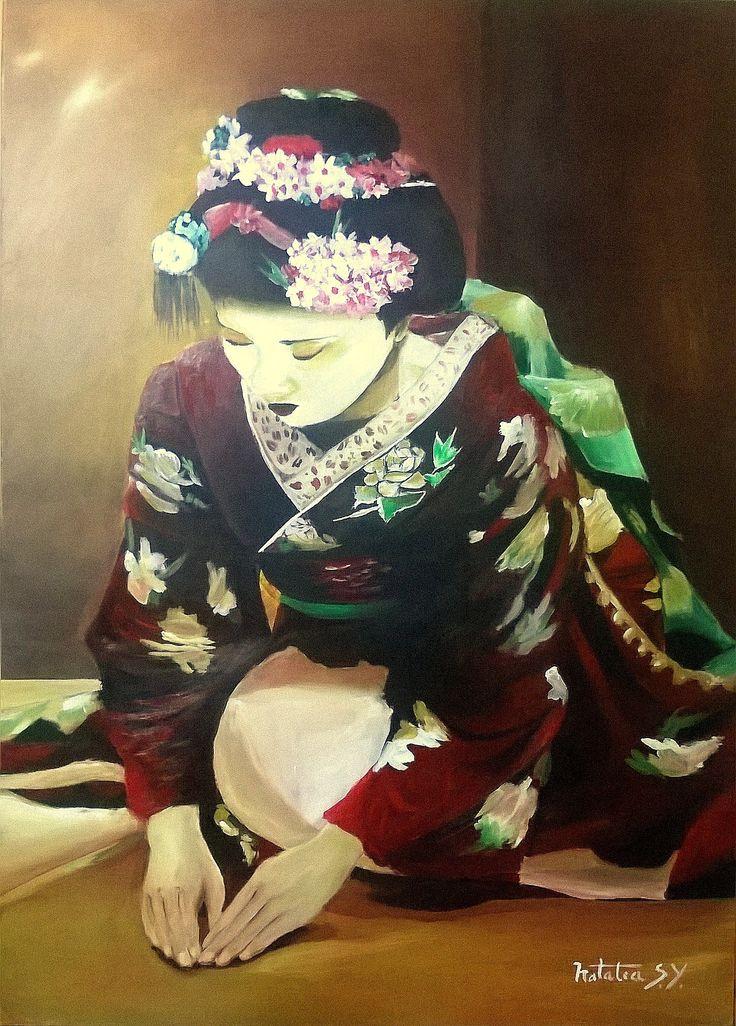 Geisha, en acrílico