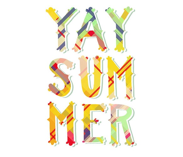 Yay Summer Print  by Emily McDowell Illustration: Emily Mcdowell, Yay Summer, Yaysummer, Art, Mcdowell Illustration, Summer Prints, Summer Lovin, Summertime, Summer Time