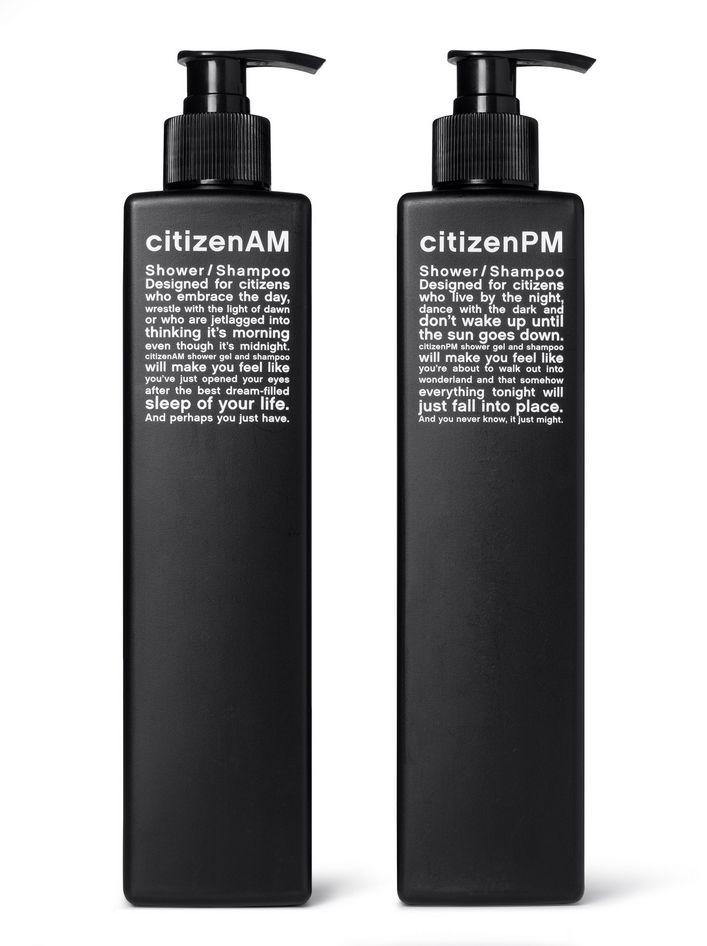 Kessels & Kramer || Lo studio olandese ha curato la comunicazione per la catena di alberghi Citizen M. Questi prodotti per il bagno puntano su un copy divertente che parla dell'esperienza dei viaggiatori.