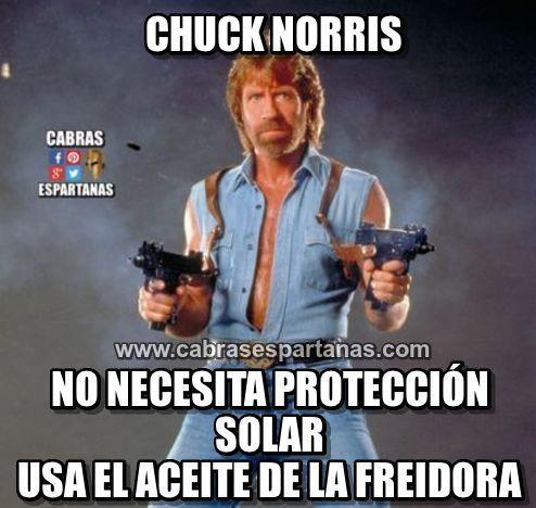 Protección solar Chuck Norris no usa de eso