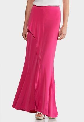 b74eb5aa4685e Cato Fashions Plus Size Berry Ruffled Maxi Skirt  CatoFashions ...