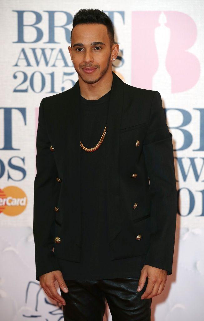 Lewis Hamilton at BRIT Awards 2015